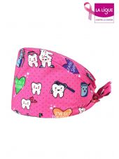 "Medical cap ""Teeth on pink background"" (209-12187)"