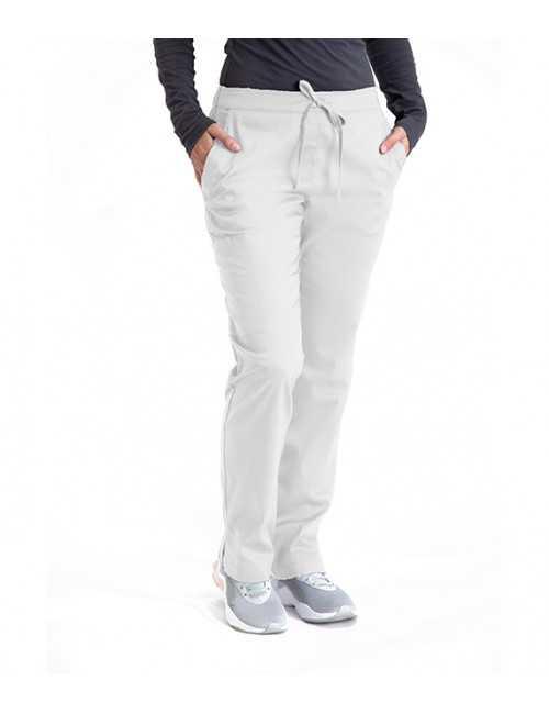 Pantalon médical élastique et cordon Femme, Barco One Essentials (BE004) blanc