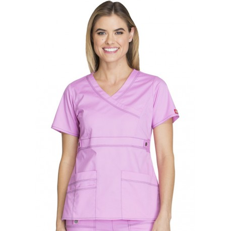 """Blouse médicale Femme Dickies, collection """"GenFlex"""" (817355) rose"""
