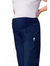 Pantalon médical Femme enceinte à élastique Cherokee (2092), couleur bleu marine vue zoom