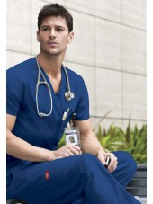 """Blouse médicale Homme, Dickies, Collection """"EDS signature"""" (81906), couleur bleu royal vue modèle"""