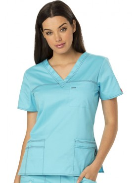 Blouse femme Col V Dickies, Collection Gen Flex