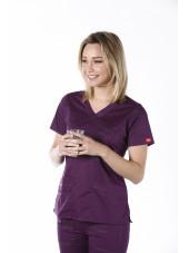 """Blouse médicale Femme Dickies, collection """"GenFlex"""" (817355) aubergine vue droit"""