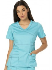 "Blouse médicale Femme Dickies, collection ""GenFlex"" (817355) turquoise face"