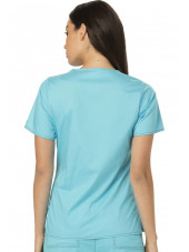 """Blouse médicale Femme Dickies, collection """"GenFlex"""" (817355) turquoise dos"""
