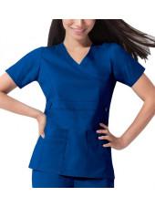 "Blouse médicale Femme Dickies, collection ""GenFlex"" (817355) bleu royal face"