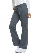 "Pantalon médical Femme Cordon, Dickies, Collection ""GenFlex"" (DK100), couleur gris anthracite vue coté"