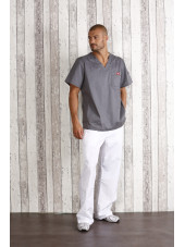"Blouse médicale Homme Dickies, Collection ""Genflex"" (81722) gris clair ensemble"