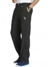 """Pantalon à bouton homme, Cherokee, Collection """"Infinity"""" (CK200A) noir droite"""