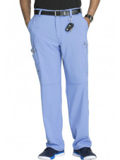 "Pantalon à bouton homme, Cherokee, Collection ""Infinity"" (CK200A) bleu ciel face"