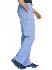 "Pantalon à bouton homme, Cherokee, Collection ""Infinity"" (CK200A) bleu ciel gauche"