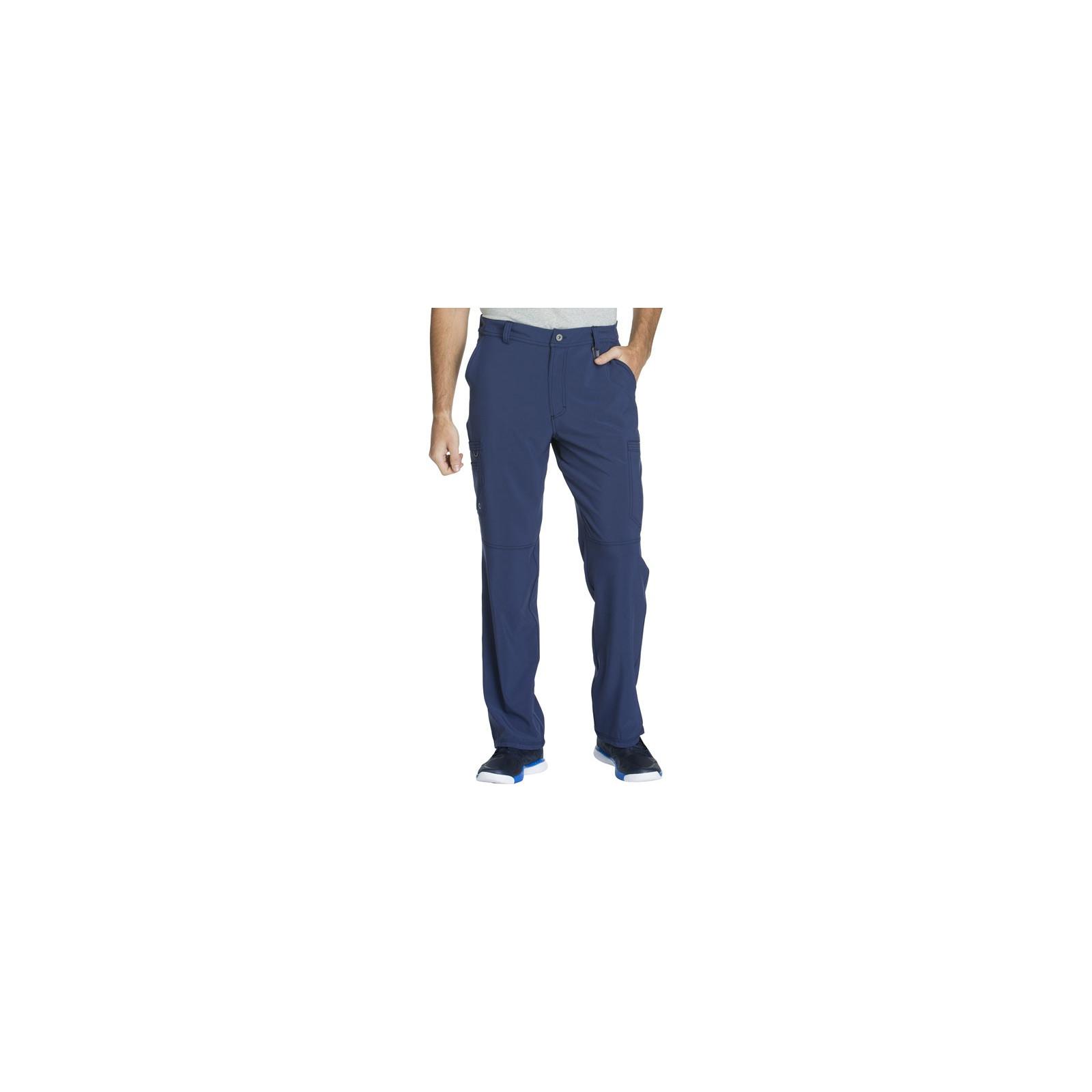 "Pantalon à bouton homme, Cherokee, Collection ""Infinity"" (CK200A) bleu marine face"