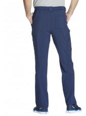 "Pantalon à bouton homme, Cherokee, Collection ""Infinity"" (CK200A) bleu marine dos"