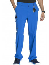"Pantalon à bouton homme, Cherokee, Collection ""Infinity"" (CK200A) bleu royal face"