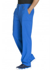 "Pantalon à bouton homme, Cherokee, Collection ""Infinity"" (CK200A) bleu royal droite"