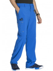 "Pantalon à bouton homme, Cherokee, Collection ""Infinity"" (CK200A) bleu royal gauche"