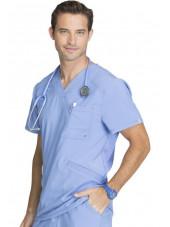 """Blouse Médicale Homme Antibactérienne Cherokee, Collection """"Infinity"""" (CK900A) bleu ciel droit"""