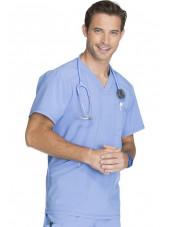 "Blouse Médicale Homme Antibactérienne Cherokee, Collection ""Infinity"" (CK900A) bleu ciel gauche"
