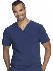 "Blouse Médicale Homme Antibactérienne Cherokee, Collection ""Infinity"" (CK900A) bleu marine face"