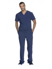 "Blouse Médicale Homme Antibactérienne Cherokee, Collection ""Infinity"" (CK900A) bleu marine ensemble"