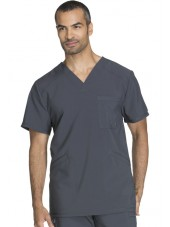 "Blouse Médicale Homme Antibactérienne Cherokee, Collection ""Infinity"" (CK900A) gris anthracite face"