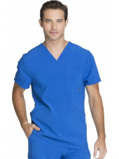 "Blouse Médicale Homme Antibactérienne Cherokee, Collection ""Infinity"" (CK900A) bleu royal face"