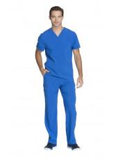 "Blouse Médicale Homme Antibactérienne Cherokee, Collection ""Infinity"" (CK900A) bleu royal ensemble"