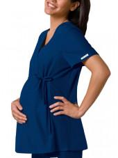 Blouse Médicale pour Femme Enceinte Cherokee (2892), couleur bleu marine vue modèle
