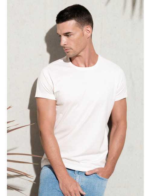 T-shirt organic cotton round neck man KARIBAN (K371)
