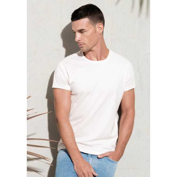 T-shirt coton BIO col rond homme KARIBAN (K371)
