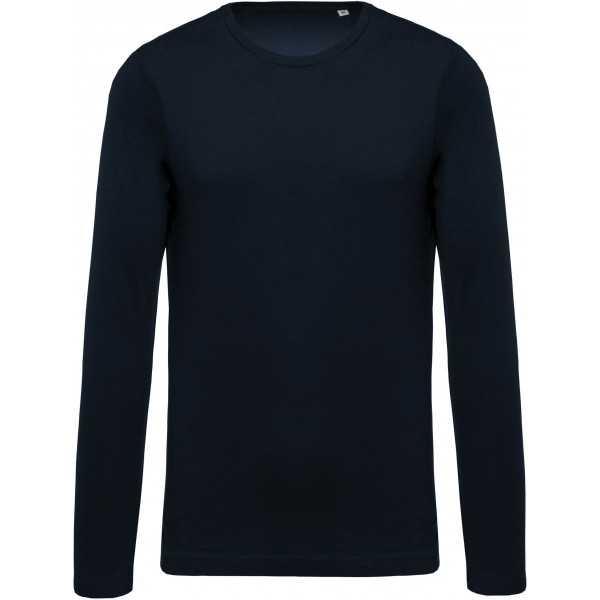 T-shirt coton BIO col rond manches longues homme KARIBAN (K372)