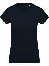 T-shirt coton BIO col rond femme KARIBAN (K391)