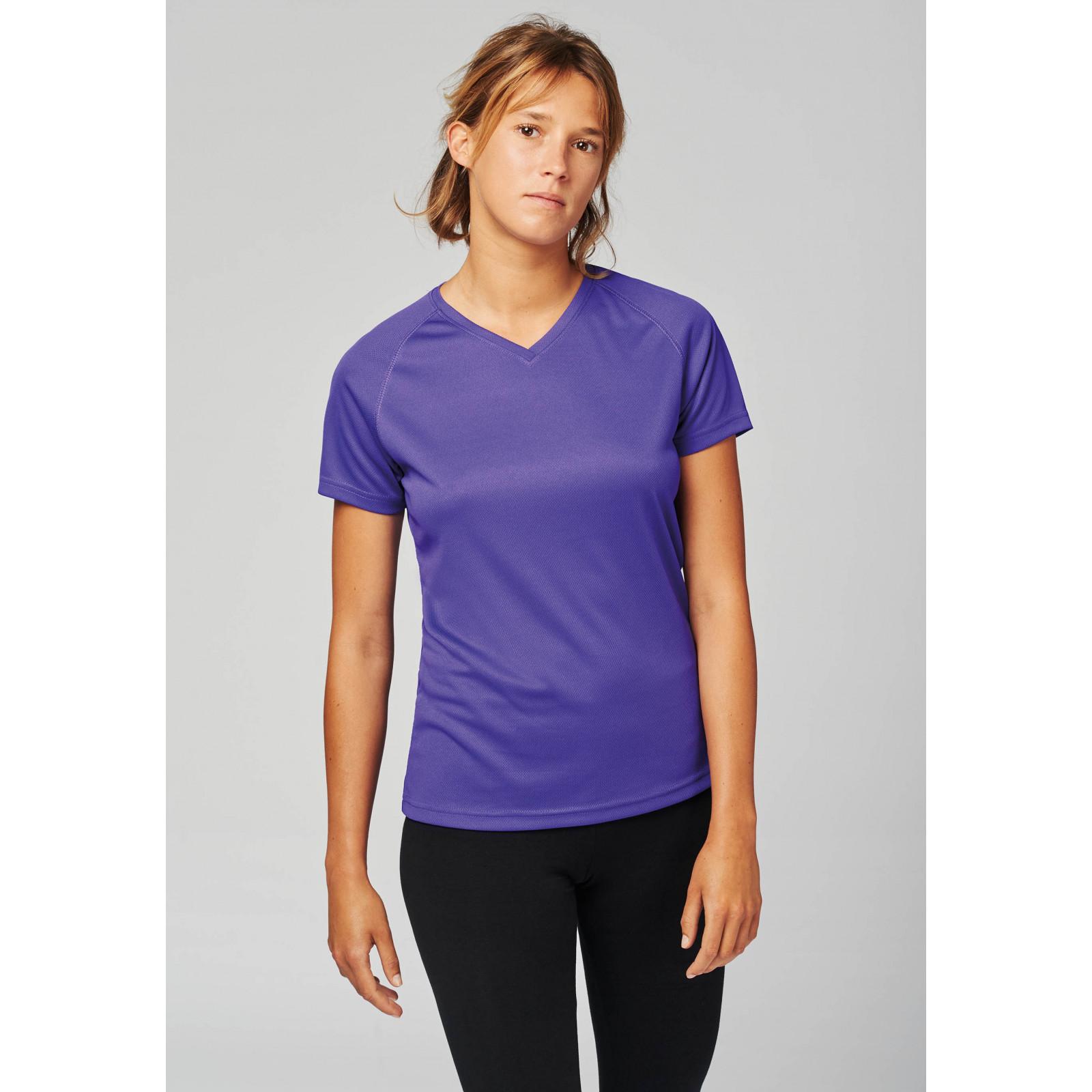 T-shirt de sport manches courtes col v femme PROACT (PA477)