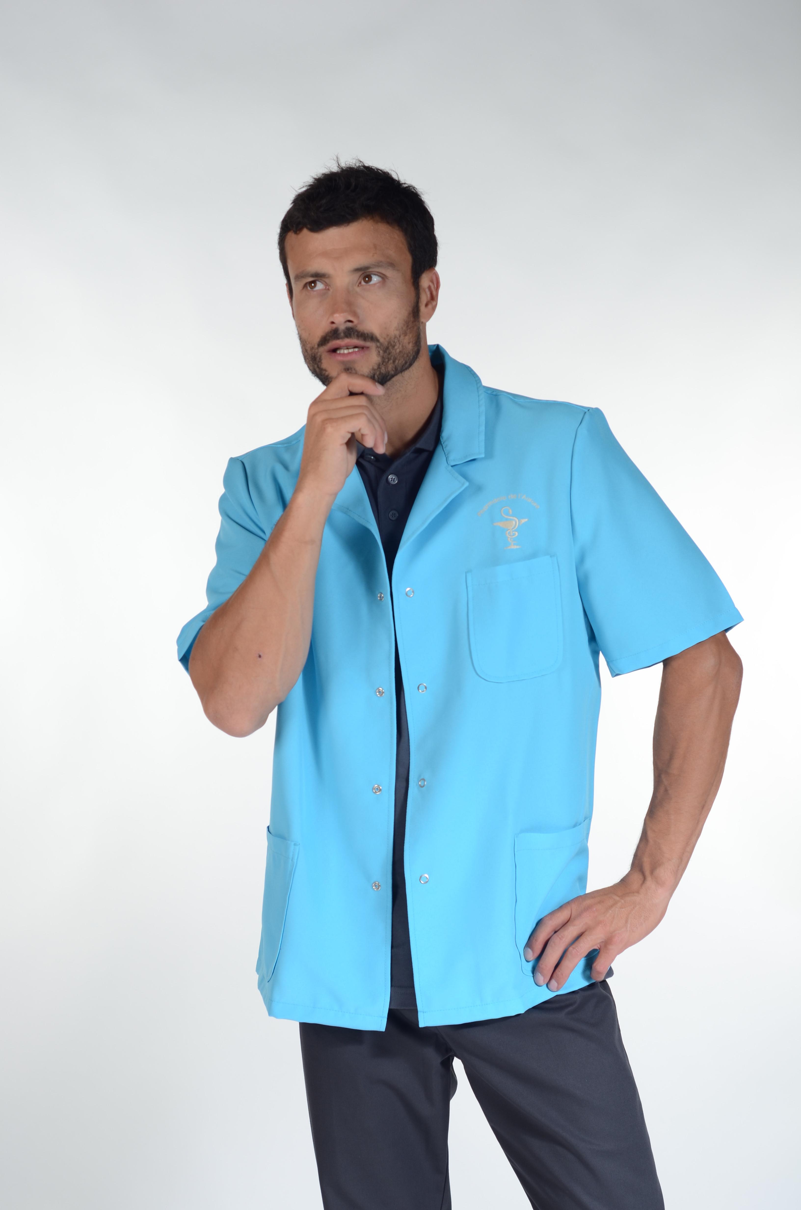 """Vente De Tissus Brest blouse médicale, tissu écologique, pressions, """"brest"""", pastelli"""