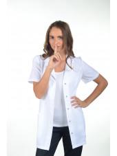 "Blouse médicale tissu écologique, pressions, ""Marsiglia"", PASTELLI"