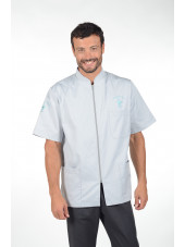 "Blouse médicale, homme zippée,CMT collection ""Stretch""  (047)"