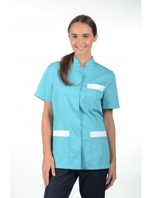 Blouse Médicale pression femme, Mankaia Factory stretch (2443)