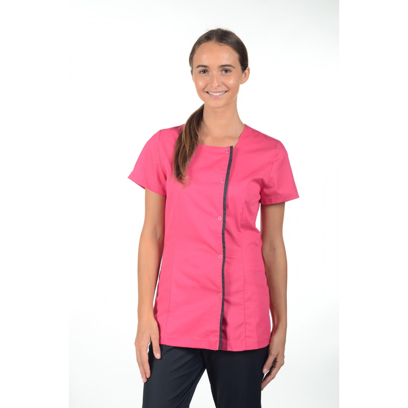 Blouse médicale pression, femme, Mankaia Factory Stretch bicolore (2605)