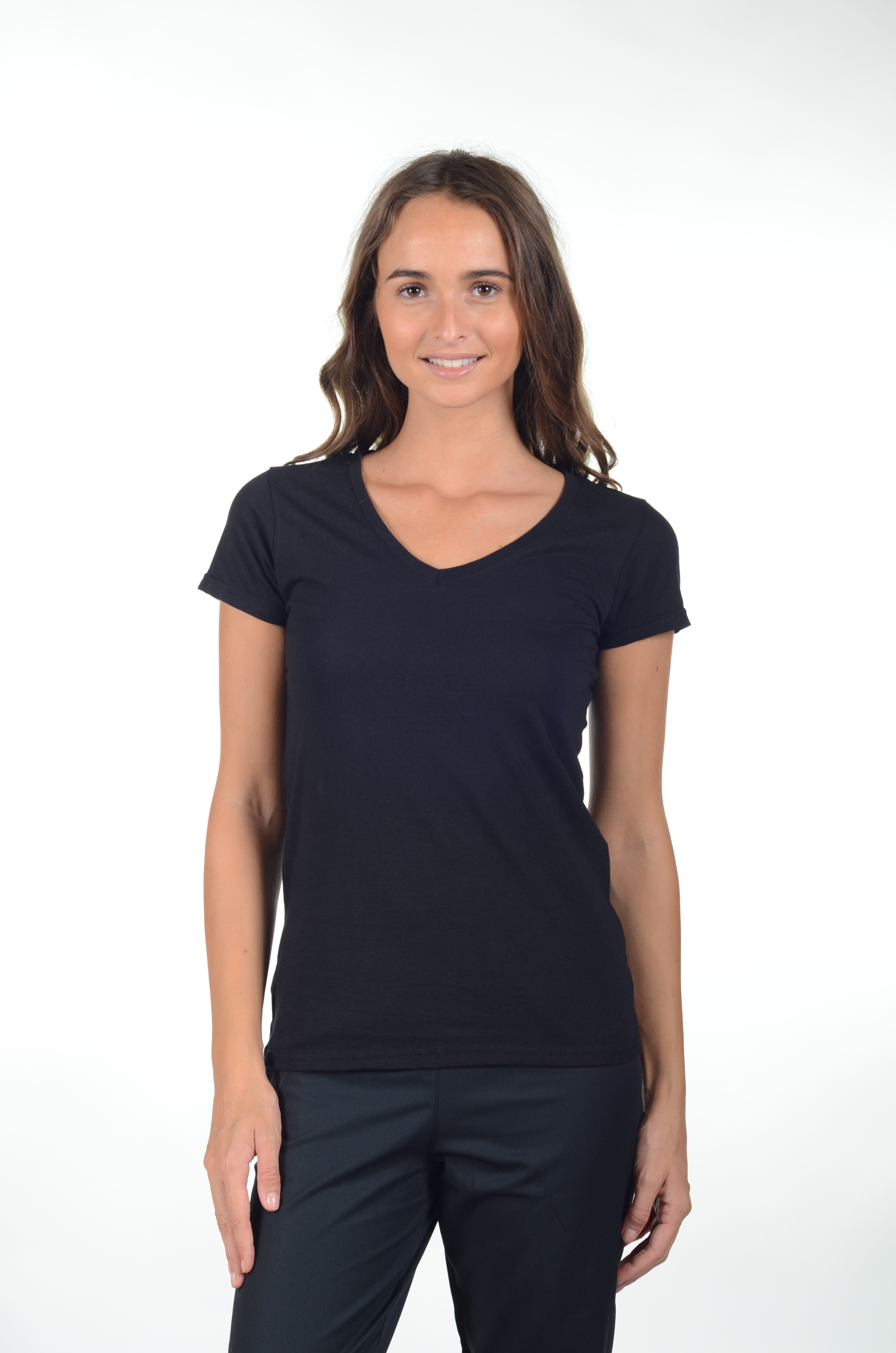 818f7f3d8e ... Tee-shirt femme Col V