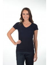 "Tee-shirt femme Col V ""Fruit of the loom"", (SC61398)"