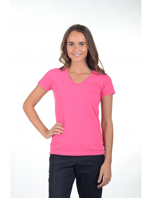"""Woman's V-neck T-shirt """"Fruit of the loom"""", (SC61398)"""