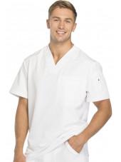 """Col V Médical homme, Collection """"Dynamix"""" (DK610) blanc droite"""