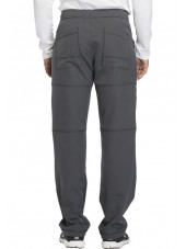 "Pantalon médical homme Dickies, collection ""Dynamix"" (DK110) gris dos"