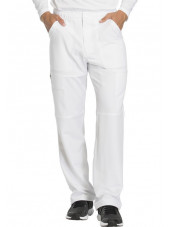 "Pantalon médical homme Dickies, collection ""Dynamix"" (DK110) blanc face"