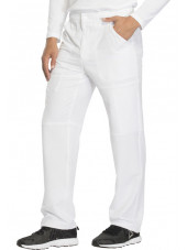 "Pantalon médical homme Dickies, collection ""Dynamix"" (DK110) blanc droite"
