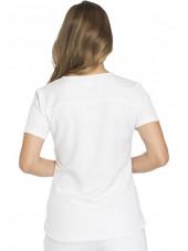 """Tunique Médicale femme Dickies, Collection """"Dynamix"""" (DK730) blanc dos"""