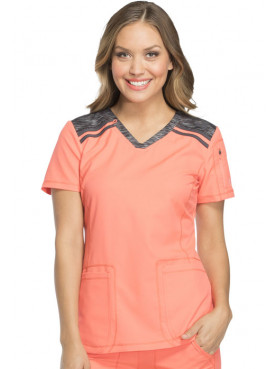 "Women's Medical Blouse bicolor Dickies, ""Dynamix"" collection (DK740)"
