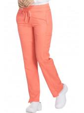 """Pantalon Médical femme Dickies, Collection """"Dynamix"""" (DK130) corail droite"""