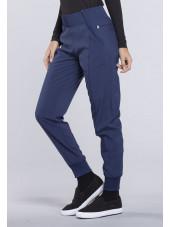 "Pantalon médical femme Cherokee, collection ""Infinity"" (CK110A) bleu marine droite"