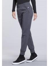 "Pantalon médical femme Cherokee, collection ""Infinity"" (CK110A) gris droite"